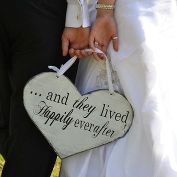 Wooden Wedding Supplies Double Side English Letters Wedding Hanging Photo Prop