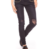 Spike Studded Skinnies | FOREVER21 - 2000031398