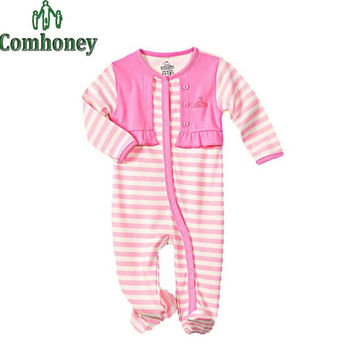 Sweet Animal Baby Rompers Bebes One Piece Footed Pajamas Baby Boy Clothes Infant Sleepers Newborn Blanket Sleepers Baby Costumes