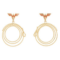 DC Comics Wonder Woman Lasso Hoop Earrings