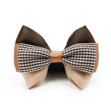Gentleman's Fancy Neutral Bow Tie