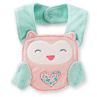 Owl Terry Teething Bib