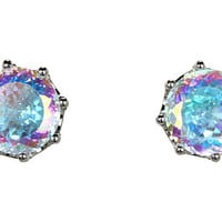 Juicy Couture Ab CZ Oversized Stud Earrings