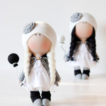 Doll tilde. Doll Gloria  and Susie. Sisters doll. La Petite Collection. Cute doll. Textile doll. Soft toy. Cloth doll. Christmas gift
