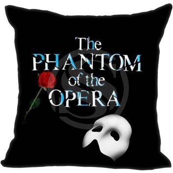 New Arrival Custom Pillow Case Musical The Phantom Of The Opera Pillowcase zipper 35x35 cm (One side)  F922