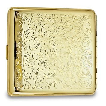 Gold-tone Swirl Design (holds Pack Kings) Cigarette/card Case