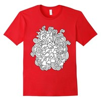 Color Me Abstract Zentangle DIY Coloring T-shirt