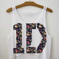 1D Floral Crop Top | fresh-tops.com