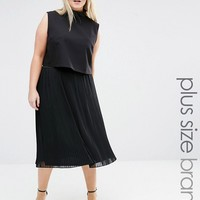 Lovedrobe Pleated Skirt at asos.com