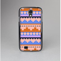 The Pink-Blue & Coral Tribal Ethic Geometric Pattern Skin-Sert Case for the Samsung Galaxy S4