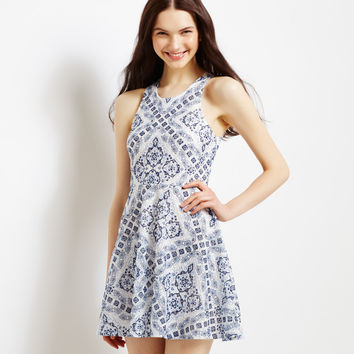 Aeropostale  Medallion Diamond Lace Dress