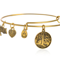 "Alex and Ani style letter ""tree of life"" pattern pendant charm bracelet,a perfect gift !"