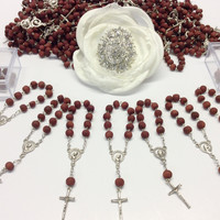 70pcs rose scent mini rosaries favors Wedding, baptism Favor