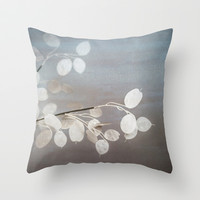 WHITE PAPER FLOWERS Throw Pillow by Studio70