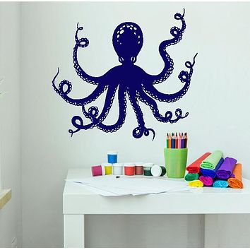Vinyl Wall Decal Cartoon Octopus Sea Animal Marine Style Stickers Unique Gift (1335ig)
