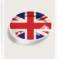 Union Jack Crystal Oval Paperweight