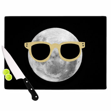 "Chelsea Victoria ""Mr. Moon"" Yellow Illustration Cutting Board"