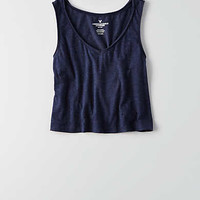 AEO Cropped Swing T-Shirt , Navy