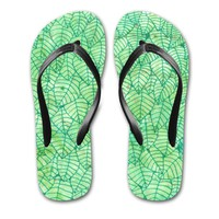 'Green foliage' Flip Flops by Savousepate on miPic