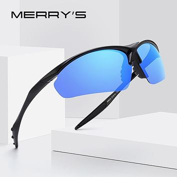MERRYS DESIGN Men Polarized Outdoor Sports Sunglasses Male Half Frame Goggles Glasses For Running UV400 Protection S9023