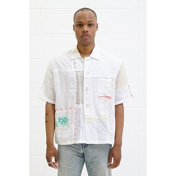 One Of A Kind Handkerchief Patchwork Shirt - Size M/L
