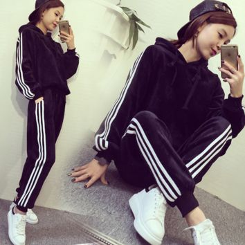 Leisure Sports Hooded Two-Piece Pants