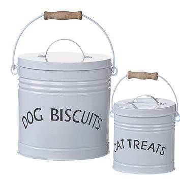 Pet Treat Tins, Asst. of 2, Jars, Canisters, Tins & Bottles