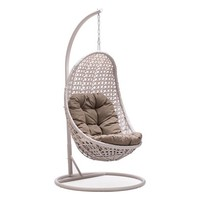 Ikon Modern Furniture Sheko Outdoor Cradle Chair in Pearl - 703105 | The Simple Stores