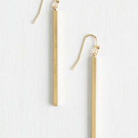 Boho Key to Simplicity Earrings in Gold by ModCloth