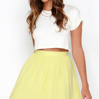 Posy on Over Yellow Skirt