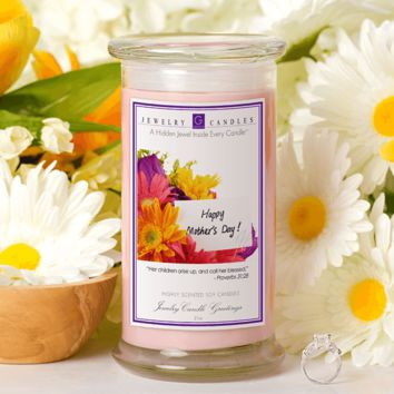 """""""Call Her Blessed"""" Happy Mother's Day  - Jewelry Greeting Candles"""