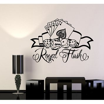 Vinyl Wall Decal Casino Logo Cards Poker Games Of Chance Stickers (3250ig)