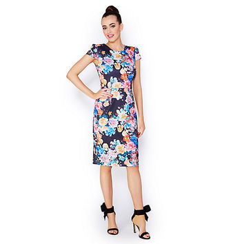 BETSEYS BEST BOUQUET MIDI DRESS: Betsey Johnson