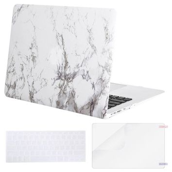 Mosiso Shell Case Cover for Macbook Air 13 Mac Pro 13 13.3 2013 2014 2015 + Silicone Keyboard Skin + Screen Protector