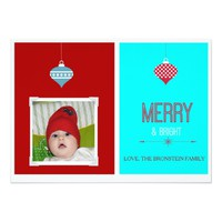 MERRY & BRIGHT Christmas Family Photo Card