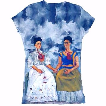 Frida Kahlo Graphic Tee Shirt - Las Dos Fridas