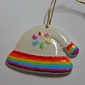LGBT Ceramic Hat Ornament Gay Pride Christmas Decoration