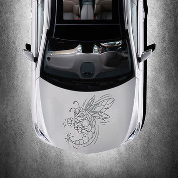 WICKED EVIL SERIOUS BEE ANIMAL DESIGN HOOD CAR VINYL STICKER ART DECALS SV1497