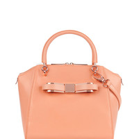 Small bow tote bag - Orange | Bags | Ted Baker UK