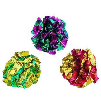 12 PCs Creative Design Multicolor Balls Cat Toys Happy Gifts High Quality Mylar 1.5 Inch Width