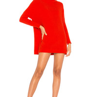 Free People Ottoman Slouchy Tunic Sweater Dress in Red
