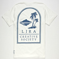 Lira Lazy Days Mens T-Shirt White  In Sizes