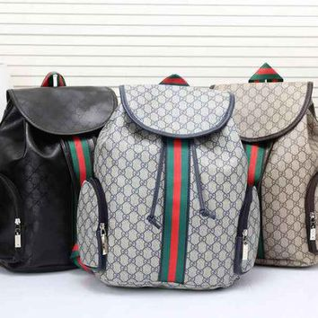 DCCKJL0 Gucci Women Leather Bookbag Shoulder Bag Handbag Backpack