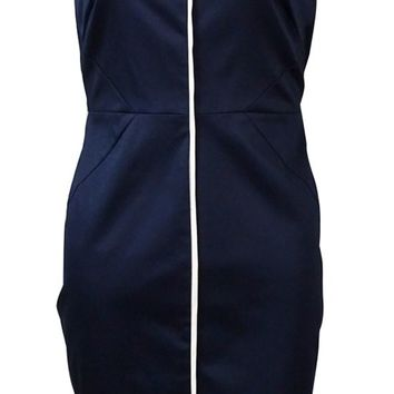 Calvin Klein Women's Illusion Contrast-Trim Sheath Dress