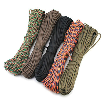 High quality 2mm*30M Paracord Rope Lanyard Militery Type Accessories Parachute For Outdoor Camping Equipment & Survival