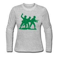 Army Men Squad Women's Long Sleeve T-Shirt - Women's Long Sleeve Custom T Shirt