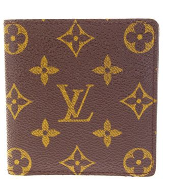 Authentic LOUIS VUITTON Long Bifold Wallet Purse Monogram Leather Brown 61EG332