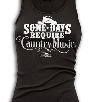 Country Junkie Women's Some Days Require Country Music Tank Top