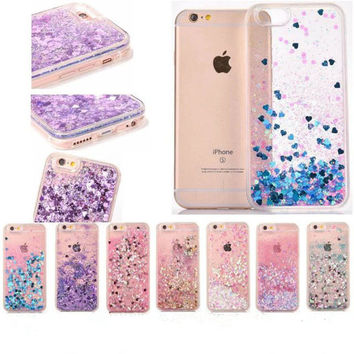 Stars Glitter Stars Dynamic Liquid Quicksand Soft TPU Phone Back Cover Case For iPhone 5 5S SE 6 6S 6Plus 7 7 Plus 2017 NEW case