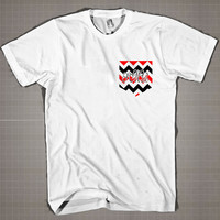 Chevron  Mens and Women T-Shirt Available Color Black And White